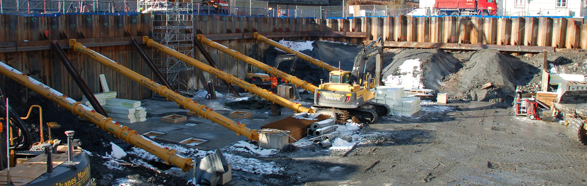 Foundations for Orkla City on track