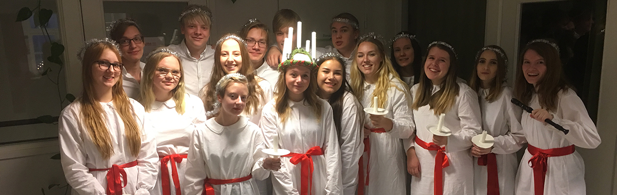 Lucia procession visited our factory